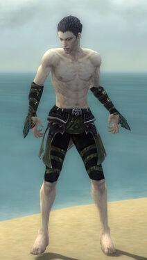 Necromancer Elite Cabal Armor M gray arms legs front