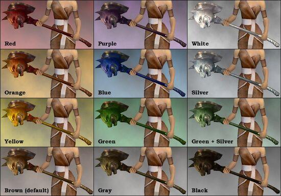 Wolf Hammer dye chart