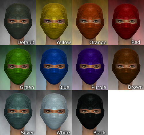 Mask of the Mo Zing F dye chart