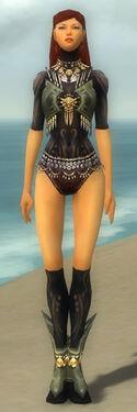 Ritualist Elite Kurzick Armor F gray chest feet front