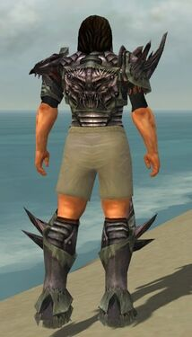Warrior Primeval Armor M gray chest feet back