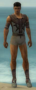 Dervish Elite Sunspear Armor M gray chest feet front