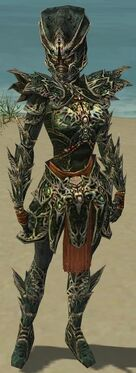 Warrior Elite Luxon Armor F gray front