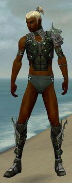 Assassin Elite Luxon Armor M gray chest feet front