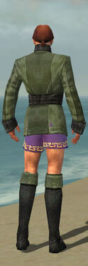 Mesmer Shing Jea Armor M gray chest feet back