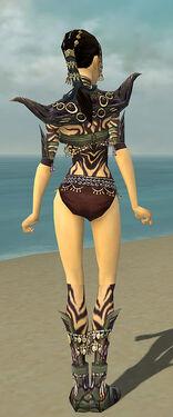 Ritualist Obsidian Armor F gray chest feet back