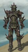 Warrior Primeval Armor M gray front