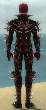 Necromancer Elite Canthan Armor M dyed back