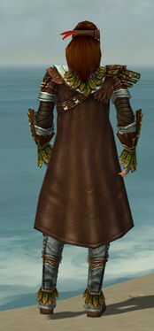 Ranger Druid Armor M gray back