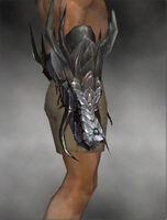 Dragon Gauntlets M gray side