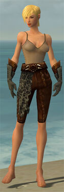Ranger Istani Armor F gray arms legs front
