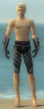 Elementalist Obsidian Armor M gray arms legs front