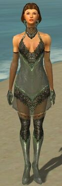 Mesmer Elite Enchanter Armor F gray front