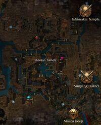 Shenzun Tunnels map