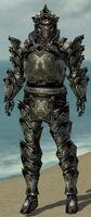Warrior Obsidian Armor M gray front
