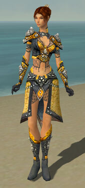 Elementalist Elite Stoneforged Armor F dyed front