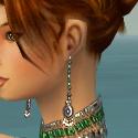 Elementalist Elite Luxon Armor F gray earrings