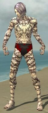 Necromancer Elite Scar Pattern Armor M gray front