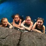 Ava Naia Jewel and Amaris in the moonpool