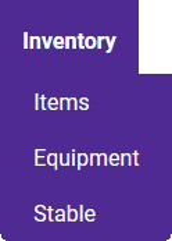 Toolbar Inventory Tab