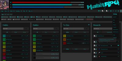 Dark Energy - HabitRPG