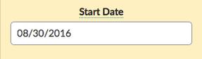 Dailies Start Date Option