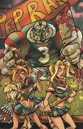 Hack:slash meets zombies vs cheerleaders Limited 1 in 10 Virgin Variant Cover by Benjamin Glendenning