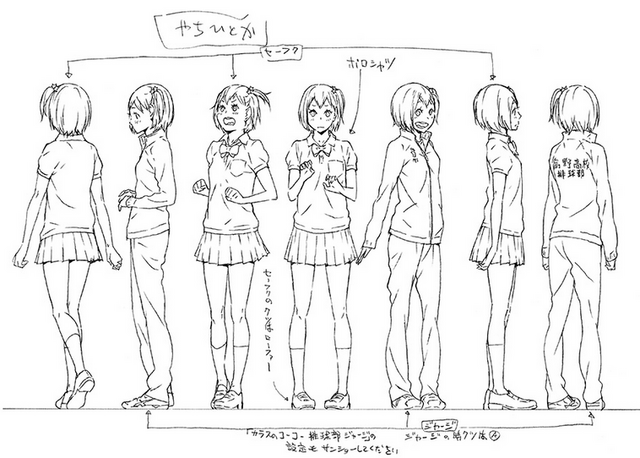File:Hitoka Yachi's Official Full Body Concept Art Uncolored.png
