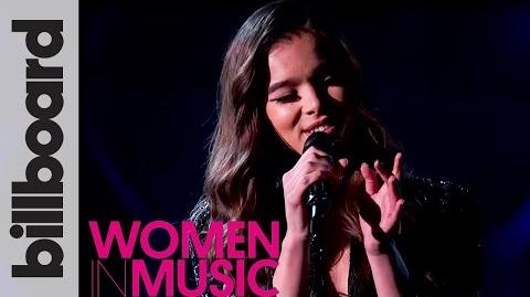 Hailee Steinfeld 'Starving' Live Acoustic Performance Billboard Women in Music 2016
