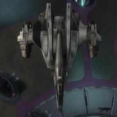 俯视军刀战斗机。