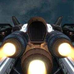 从后方看发射之前的军刀战斗机。