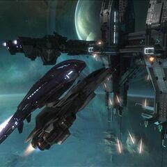 军刀战斗机与炽天使战斗机的大小对比。