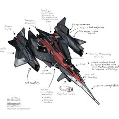 军刀战斗机早期的一种概念设计。有意思的是它与皇牌空战系列的ADF-01 Falken战斗机有若干相似之处。