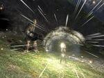 Brute activates a bubble shield