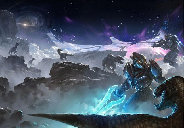 File:Halo Hunters in the Dark Wallpaper.jpg