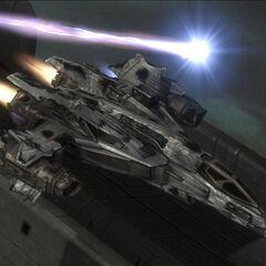 一架受创的军刀战斗机。