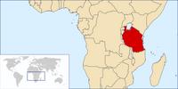 Location of Tanzania on Earth