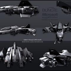 不同视角下的军刀战斗机。