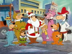 Yogi and friends with Judy