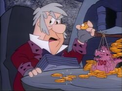 Fred as Scrooge