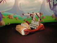 Universal Studios The Funtastic World of Hanna-Barbera Flintstone's car