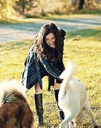 Alana with the dogs
