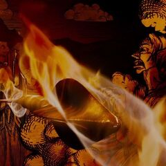 A flaming arrow.