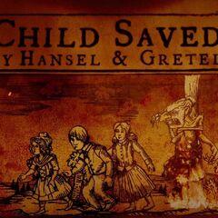 Child saved by Hansel & Gretel.