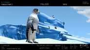 Mumble looking at the kids going to the ice bridge in Happy Feet 2 reel