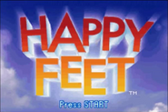 Happy Feet GBA Title Screen