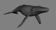 Humpback Whale model in Happy Feet 2 reel