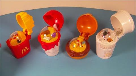1996 FLIP-UP'S SET OF 4 McDONALD'S HAPPY MEAL KID'S TOY'S VIDEO REVIEW
