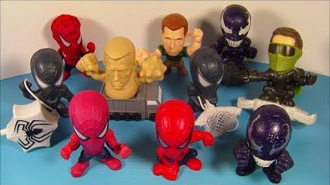 2007 SPIDER-MAN 3 SET OF 10 BURGER KING KID'S MEAL MOVIE TOY'S VIDEO REVIEW