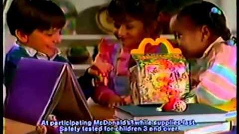 McDonalds 1988 Commercial Fragle Rock Kid's Meal